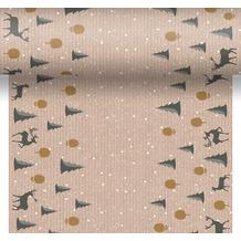 Duni Tischläufer 3 in 1 Dunicel® Deer forest 0,4 x 4,80 m 1 Stück
