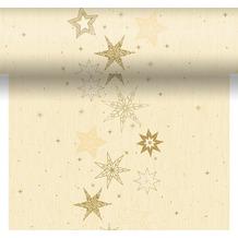 Duni Tischläufer 3 in 1 Dunicel® Star Stories Cream 0,4 x 4,80 m 1 Stück