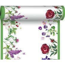 Duni Tischläufer 3 in 1 Motiv Love Flowers 0,4 x 4,80 m 1 Stück