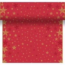 Duni Tischläufer 3 in 1 Shining Star Red 0,4 x 4,8 m