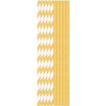 Duni Duni Trinkhalme Papier Gold & Weiß 20 cm 25er