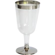 Duni Weingläser transparent /  silber 18 cl 12 Stück