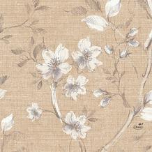 Duni Zelltuch-Servietten Floris 33x33 cm 3lagig, 1/ 4 Falz 250 Stück