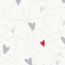 Duni Zelltuch-Servietten Love 33x33 cm 3lagig, 1/ 4 Falz 50 Stück