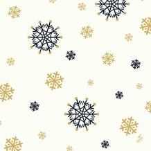 Duni Zelltuchservietten Snowflake Necklace White 40 x 40 cm 3-lagig 1/ 4 Falz 250 Stück