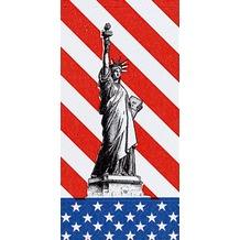 Duni Zelltuchservietten USA 40 x 40 cm 1/ 8 Kopffalz 300 Stück