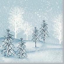 Duni Zelltuchservietten Winter Mornings 33 x 33 cm 3-lagig 1/ 4 Falz 250 Stück