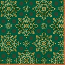 Duni Zelltuchservietten Xmas Deco Green 33 x 33 cm 3-lagig 1/ 4 Falz 50 Stück