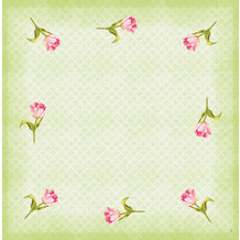 Duni Dunicel-Mitteldecken Love Tulips 84 x 84 cm 20 Stück
