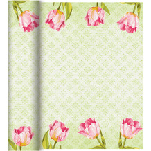 Duni Dunicel-Tischläufer Tête-à-Tête Love Tulips 24 m x 0,4 m (20 Abschnitte) 1 Stück