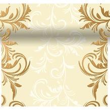 Duni Dunicel-Tischläufer 3 in 1, alle 40 cm perforiert, 0,4 x 4,80 m Grace Cream
