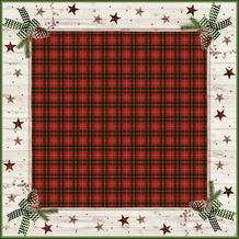 Duni Dunicel® Mitteldecken Naturally Christmas 84x84 cm 100 Stück