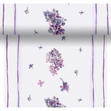 Duni Dunicel® Tischläufer 3 in 1 Sweet Butterfly Lilac 0,4 x 4,80 m 1 Stück