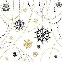 Duni Dunilin® Servietten Snow Necklace White 40 x 40 cm 12 Stück