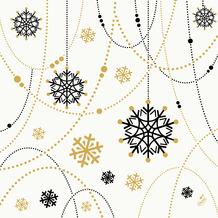 Duni Dunisoft-Servietten 40 x 40 cm Snowflake Necklace White