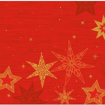 Duni Dunisoft-Servietten 40 x 40 cm Star Stories Red