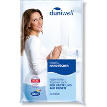 Duni Duniwell Einmal-Handtücher Airlaid weiß, 25 x 40 cm, 20 Stück 25 x 40 cm