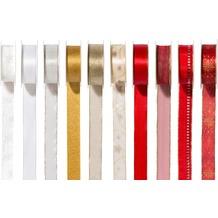 Duni Geschenkbandset Weihnachten 10-teilig 25 mm x 2 m