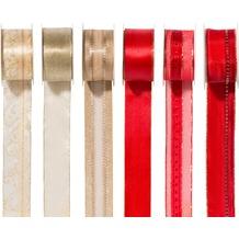 Duni Geschenkbandset Weihnachten 6-teilig 40 mm x 2 m