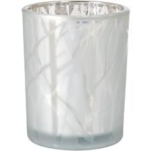 Duni Kerzenhalter Shimmer 100 x 80 mm white
