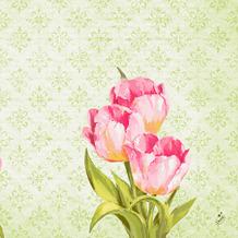 Duni Klassikservietten Love Tulips 40 x 40 cm 50 Stück