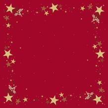 Duni Mitteldecken Motiv Walk of Fame Red 84 x 84 cm Dunisilk®+ 20 Stück