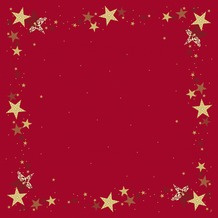 Duni Mitteldecken Motiv Walk of Fame Red 84 x 84 cm 5 Stück