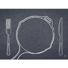 Duni Papier-Tischsets Plate it black 30 x 40 cm 250 Stück
