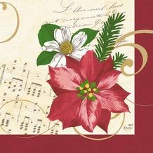 Duni Servietten 3-lagig Christmas Flower 33 x 33 cm 250 Stück, Weihnachtsstern