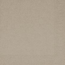 Duni Servietten 3lagig aus Zelltuch Uni greige, 33 x 33 cm, 1/ 4 Falz,  250 Stück