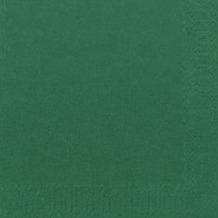 Duni Cocktail-Servietten 3lagig Zelltuch Uni jägergrün, 24 x 24 cm, 250 Stück