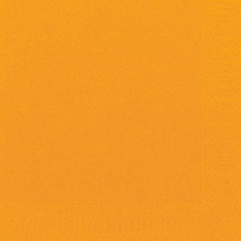 Duni Cocktail-Servietten 3lagig Zelltuch Uni orange, 24 x 24 cm, 250 Stück