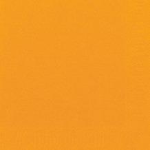 Duni Servietten 3lagig aus Zelltuch Uni orange, 33 x 33 cm, 1/ 4 Falz,  250 Stück