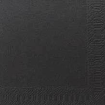 Duni Cocktail-Servietten 3lagig Zelltuch Uni schwarz, 24 x 24 cm, 250 Stück