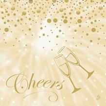 Duni Servietten Motiv Best Wishes Cream 40 x 40 cm 50 Stück