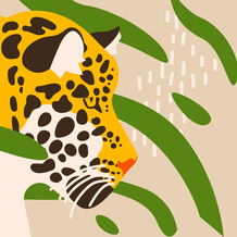 Duni Servietten Tissue Amur leopard 33 x 33 cm 20 Stück