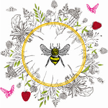 Duni Servietten Tissue Bee loved 33 x 33 cm 20 Stück