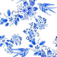 Duni Servietten Tissue Blue bird 24 x 24 cm 20 Stück
