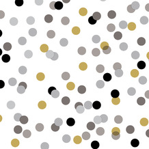 Duni Servietten Tissue Dream Dots Black 24 x 24 cm 20 Stück