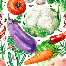 Duni Servietten Tissue Garden veggies 33 x 33 cm 20 Stück