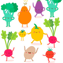Duni Servietten Tissue Happy veggies 33 x 33 cm 20 Stück
