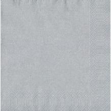 Duni Servietten Tissue silber 40 x 40 cm 20 Stück