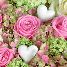 Duni Servietten Tissue White hearts in roses 33 x 33 cm 20 Stück
