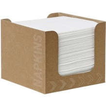 Duni Spenderboxen 1/ 4 Falz Dunisoft 20 x 20 cm Fingerfood White, 50 Stück