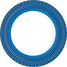 Duni Teller laminiert Pappe ø 22 cm BBQ Blue, 10 Stück
