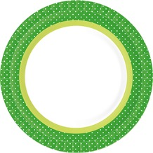 Duni Teller laminiert Pappe ø 22 cm BBQ Green, 10 Stück