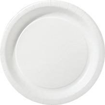 Duni Teller laminiert Pappe ø 22 cm weiß, 50 Stück