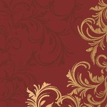 Duni Tissue Cocktail - Servietten 24 x 24 cm Grace Bordeaux, 20 Stück