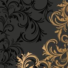 Duni Tissue Servietten 33 x 33 cm Grace Black, 20 Stück