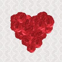 Duni Tissue Servietten 33 x 33 cm My Love, 20 Stück